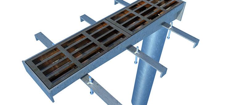 Aesthetic Bridge drains 3D Rendered